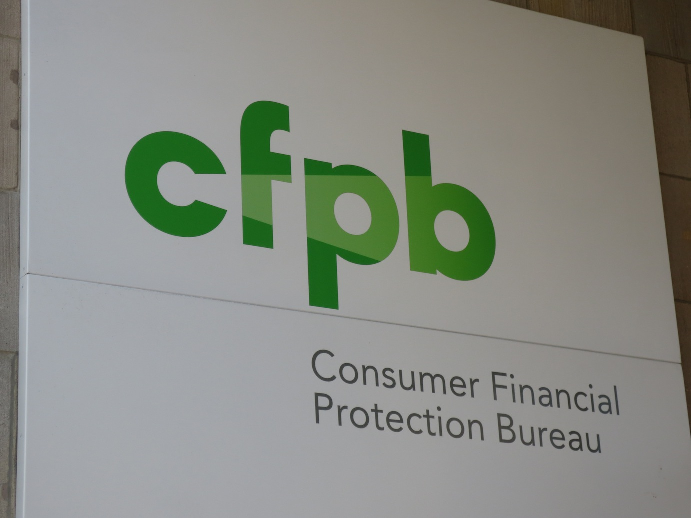 CFPB logo outside the building