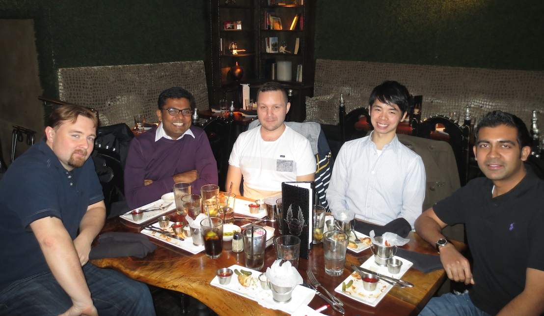 Lunch with several of WiserTogether's development team