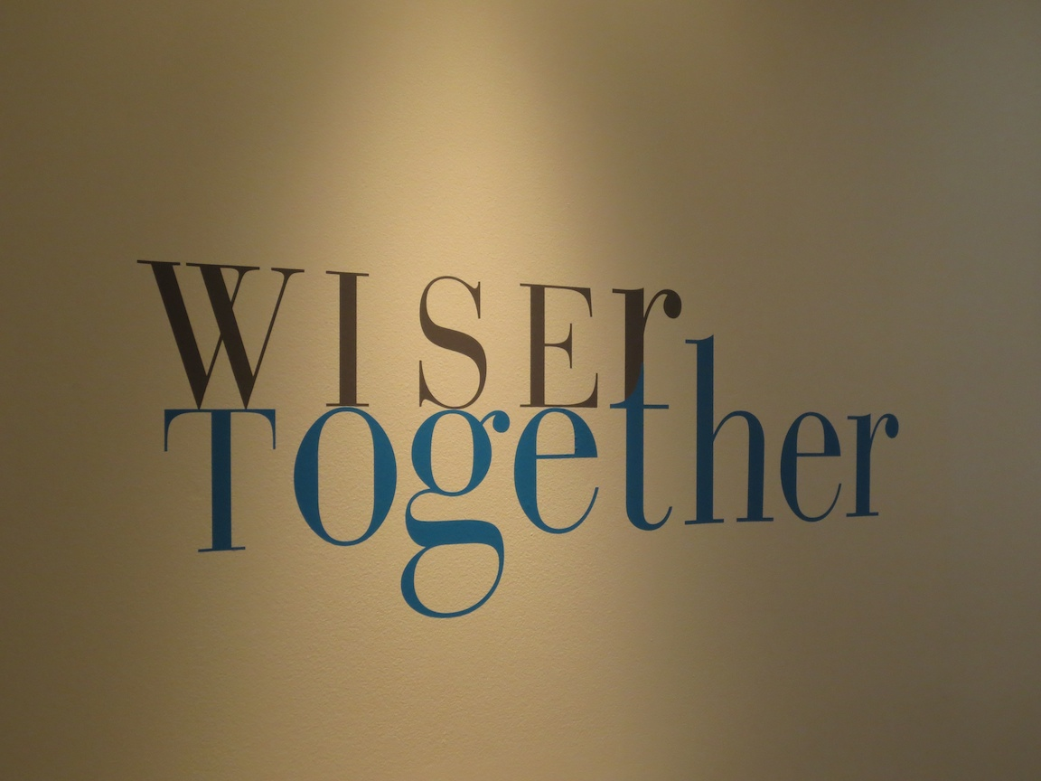 WiserTogether's logo at their offices in Georgetown, Washington, DC