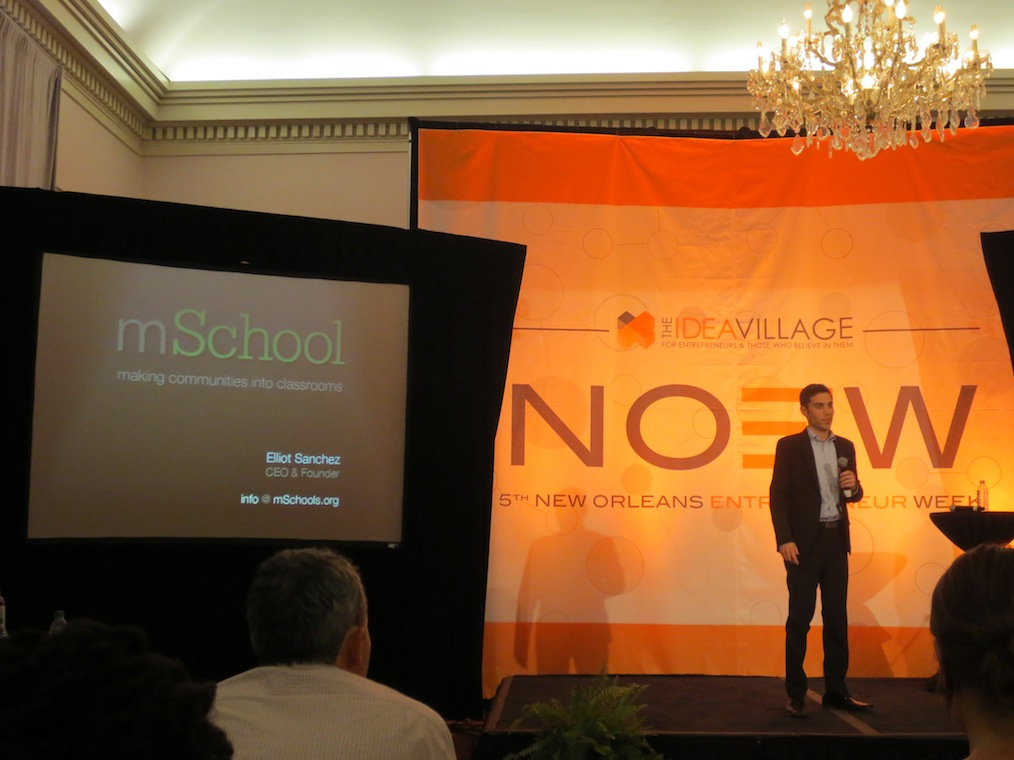 Founder of Overgrad, Ryan Hoch pitching at NOEW 2013.