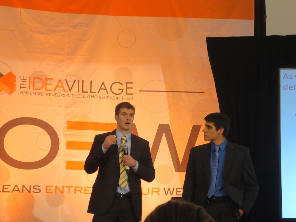 The founders of read nimble, pitching their startup.