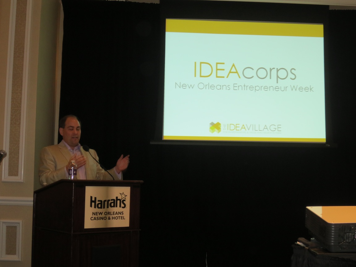 Tim Williamson introducing IdeaPitch
