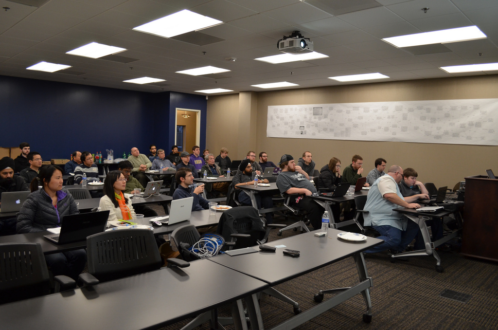 Snapshot of the crowd from MemPy March meetup