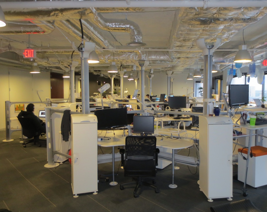 Part of WPEngine's space in Capital Factory