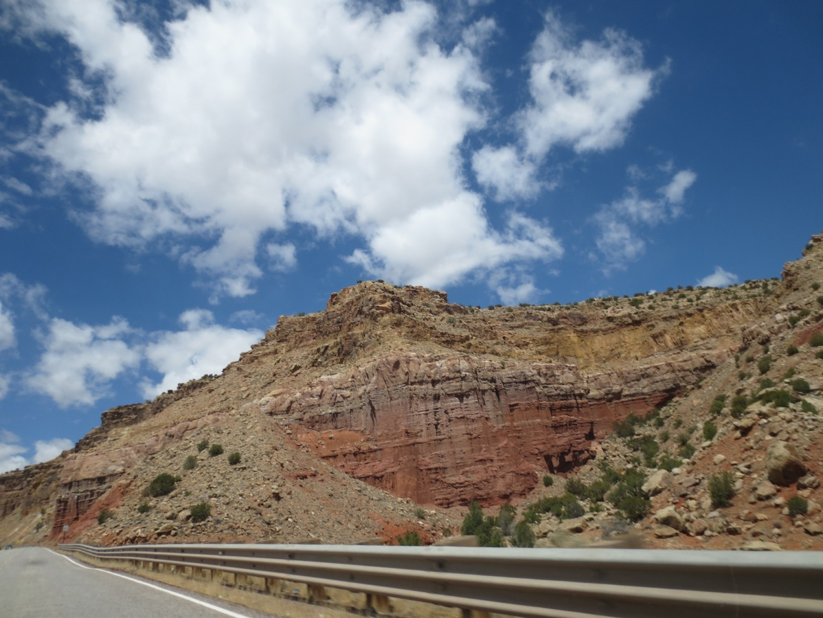 The view during part of the drive up to Moab.