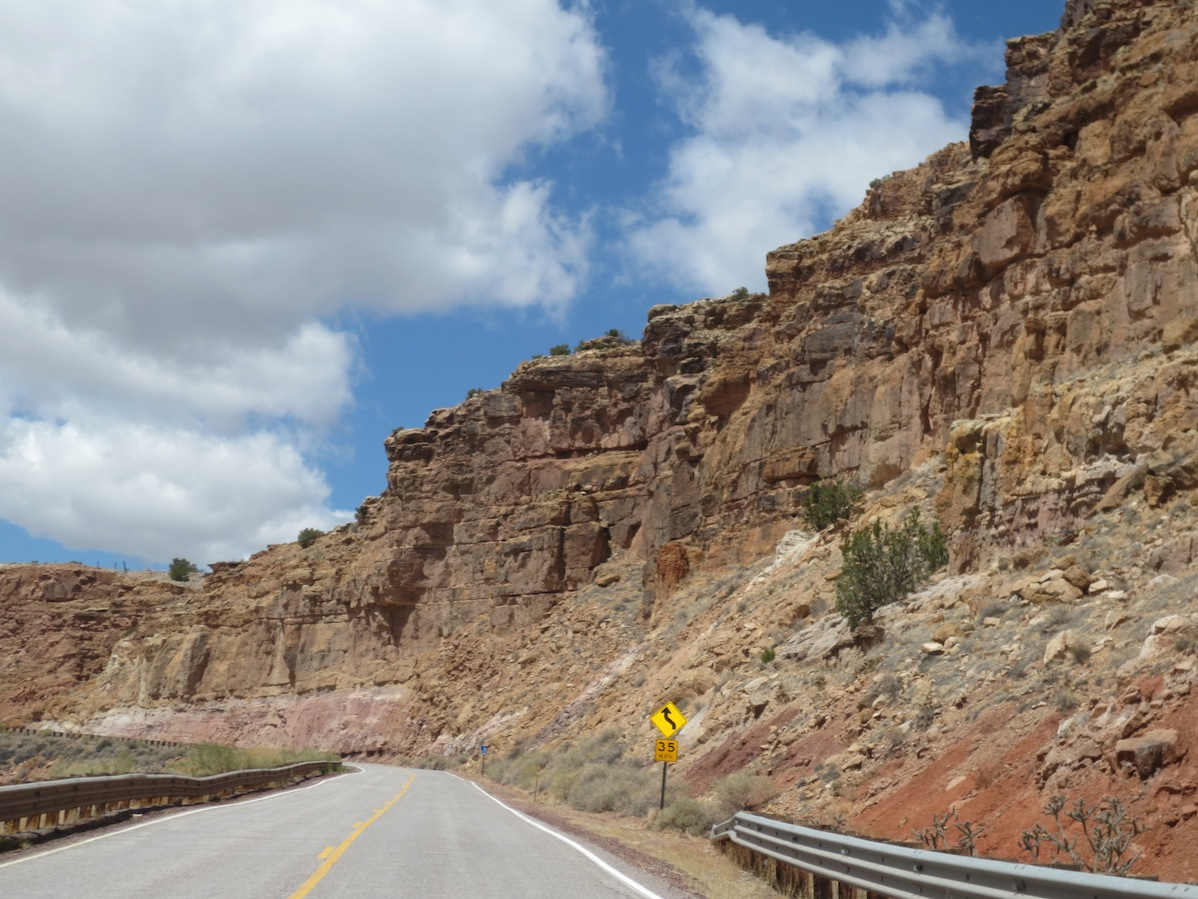 Another view during part of the drive up to Moab.