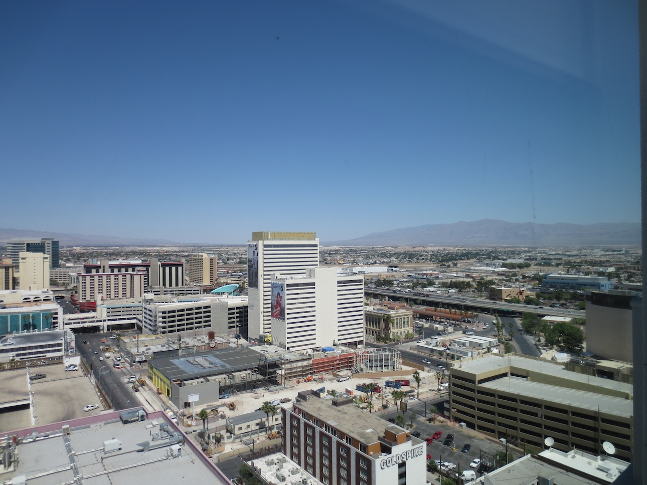 View of downtown Las Vegas from Tony Hseih's apartment.