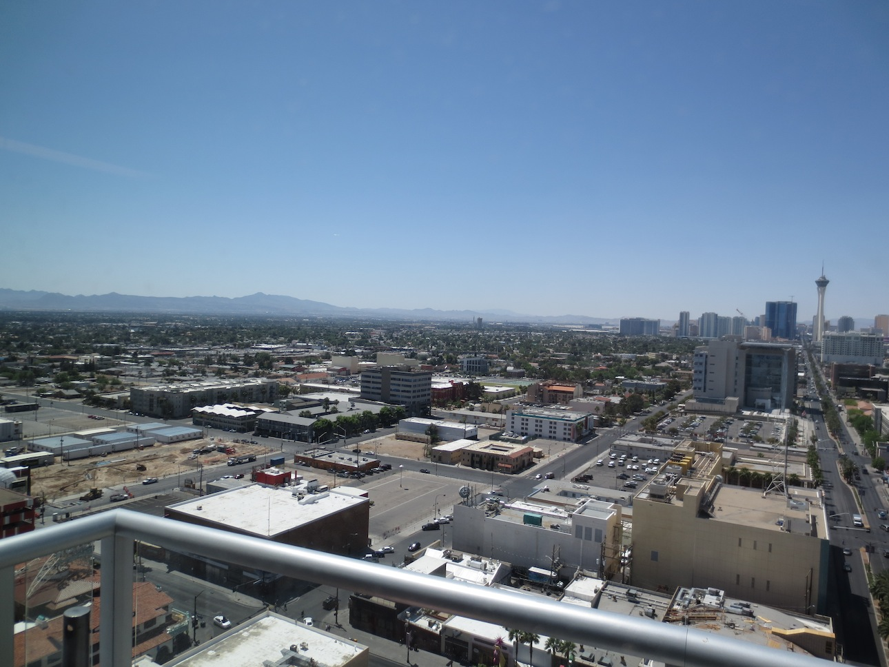 View of the new Vegas Strip from downtown.