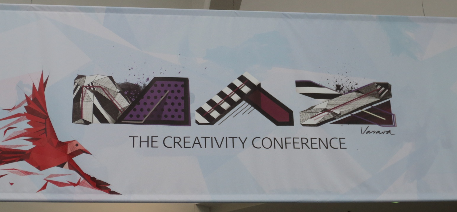 Adobe MAX banner at registration
