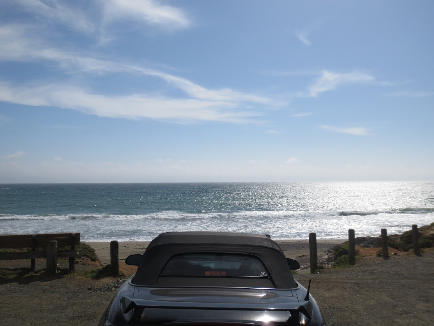 View of the Pacific Ocean from behind my S2000