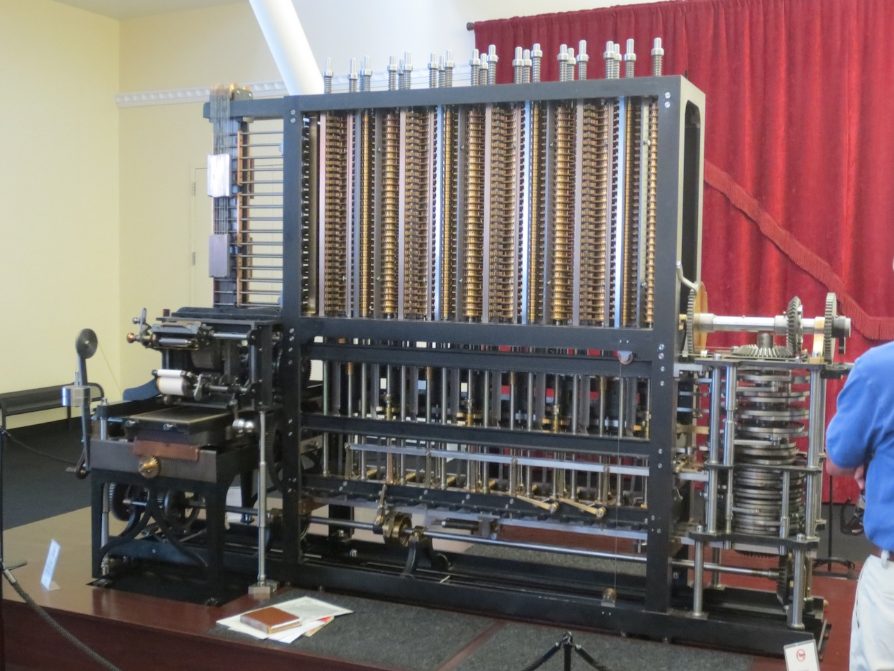 Working model of Charles Babbage's Difference Engine.