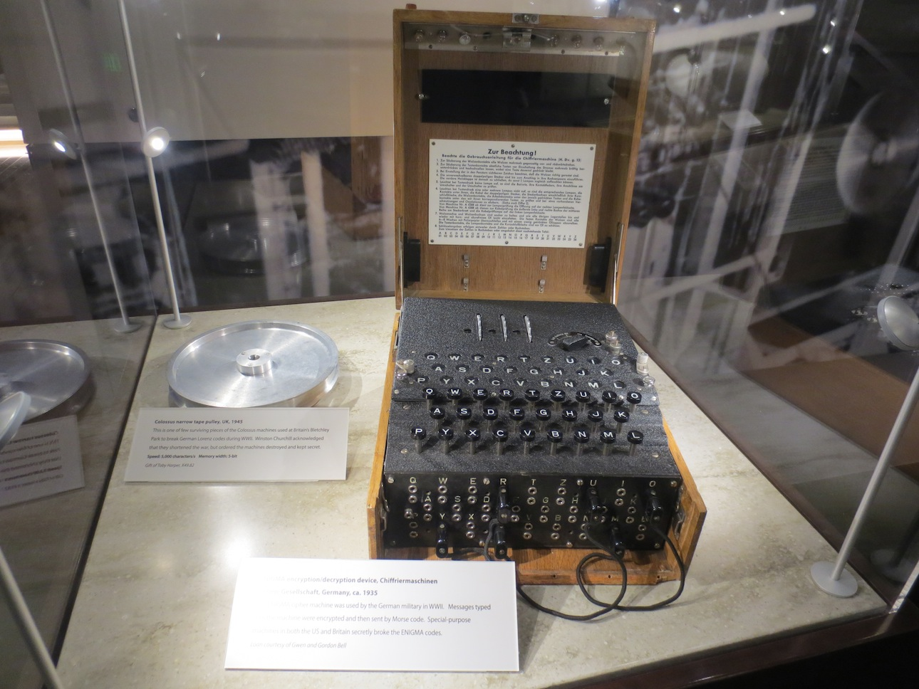 Enigma machine from Nazi Germany.