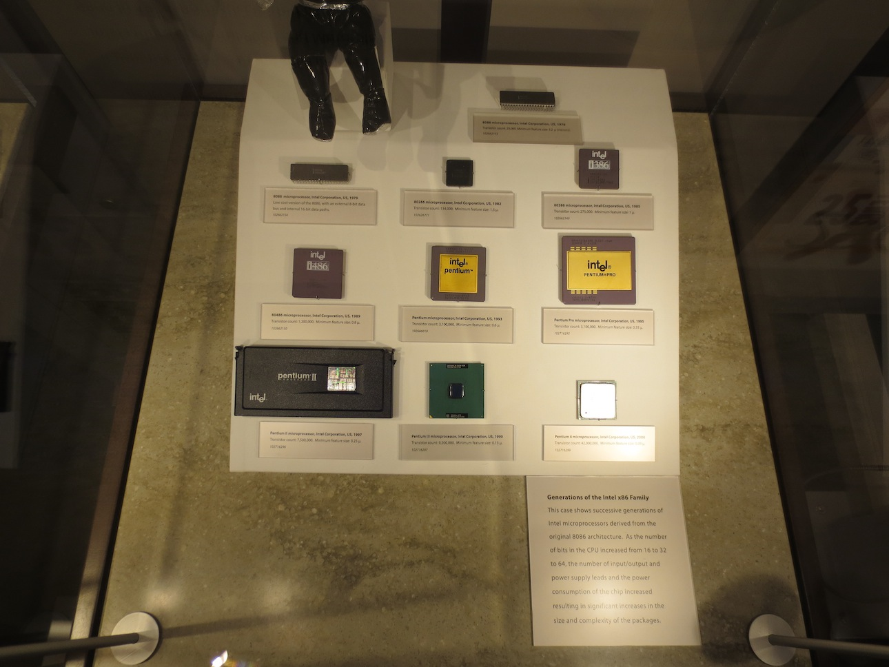 Sample set of Intel processors.