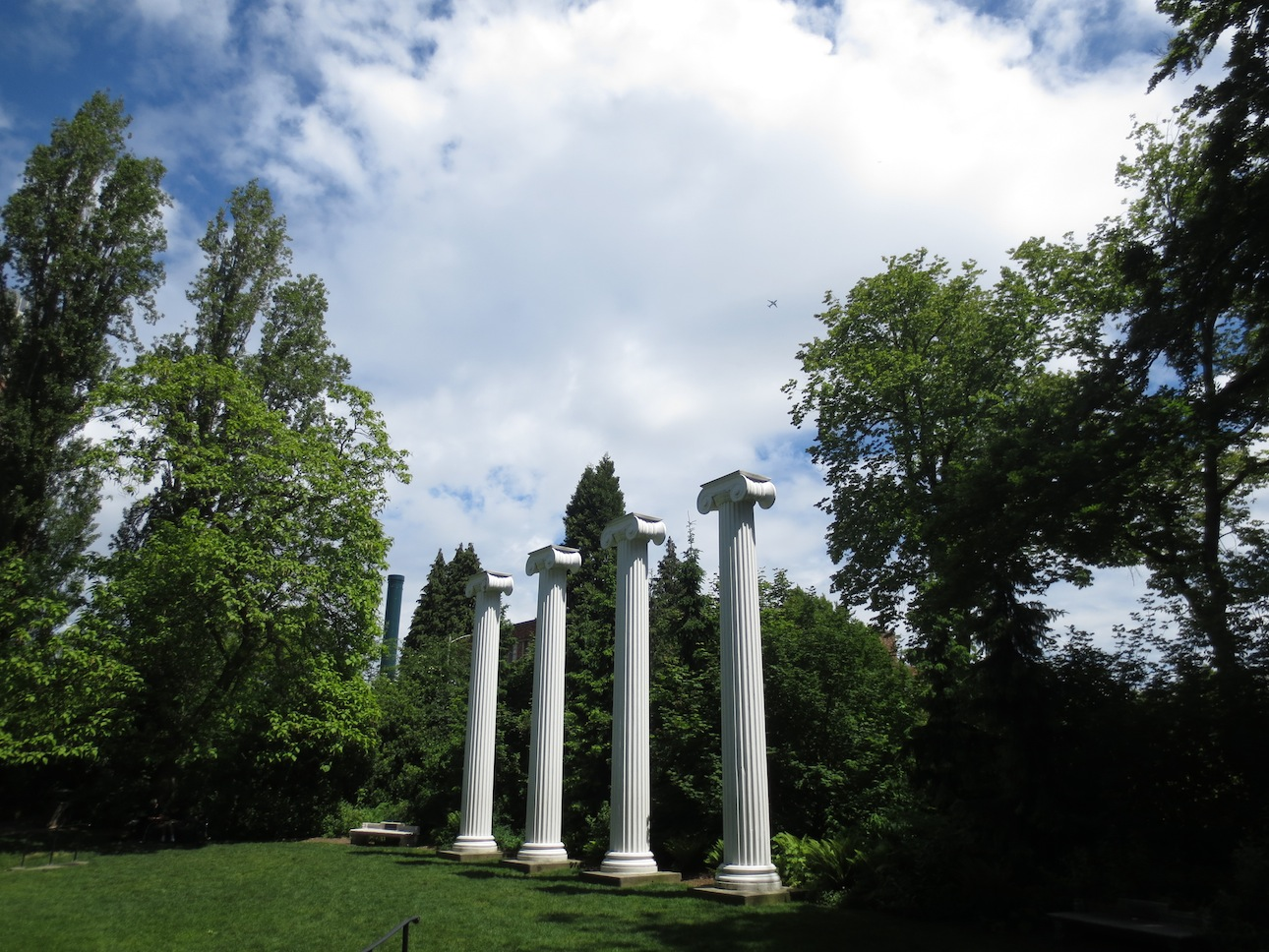 Columns in the grove next to the computer science building.