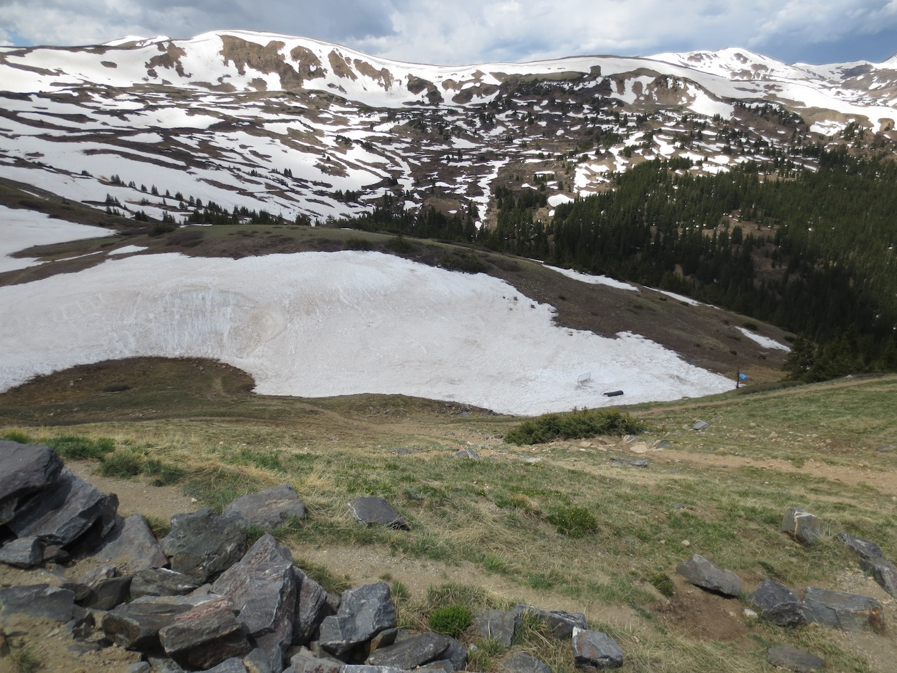 Looking down from Loveland Pass.