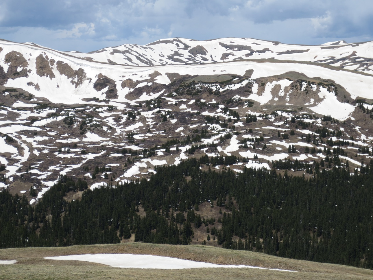 Snow capped mountains of Loveland Pass.