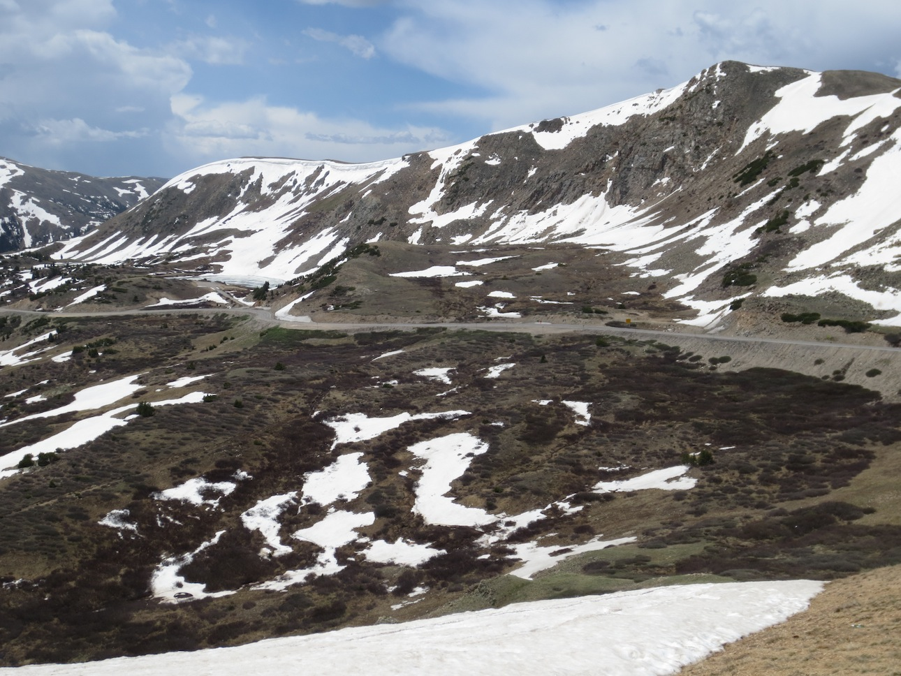 Another shot of the Winding road out of Loveland Pass.