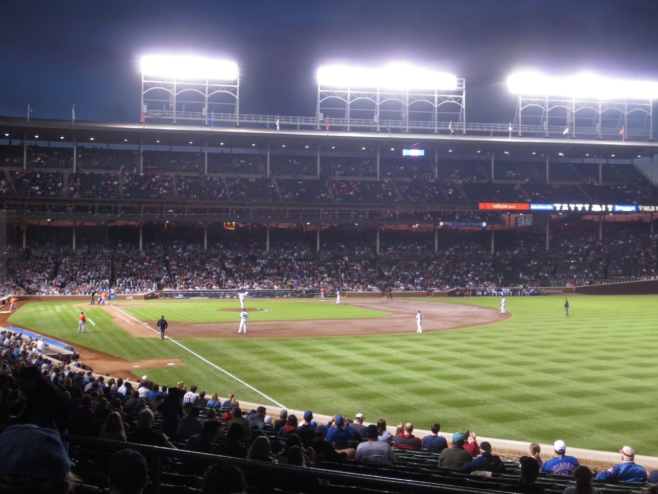 A Cubs game at Wrigley Field.