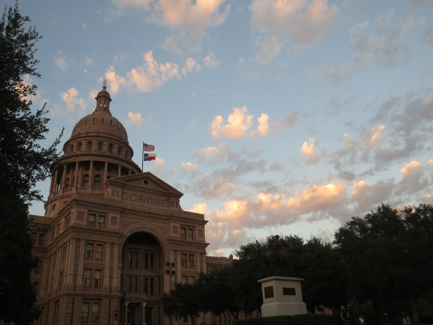 Austin Capitol building at dusk