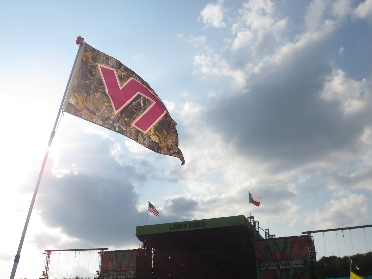 Virginia Tech flag blowing in the wind.