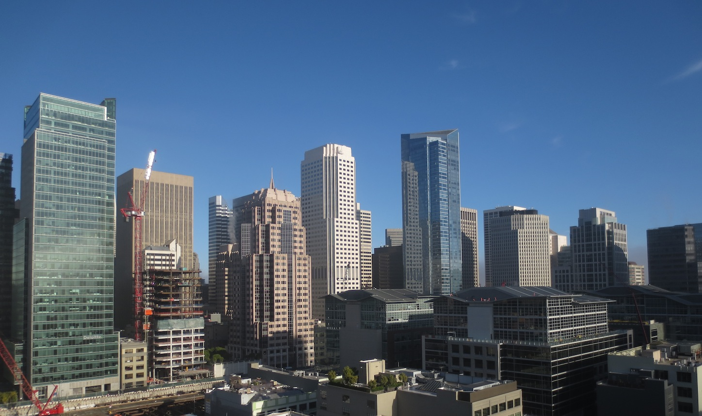 Downtown skyline of San Francisco during the day