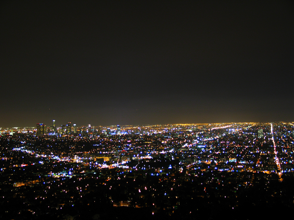 Los Angeles at night from Griffith Observatory
